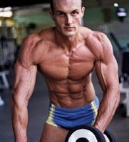 Large bodybuilder
