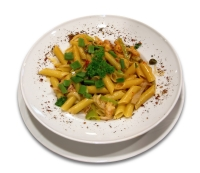 Large pasta meal