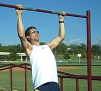 Man performing a pull-up