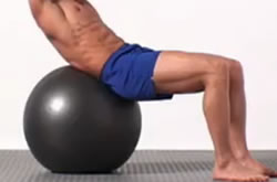 The exercise ball can be a great addtional to your abdominal training