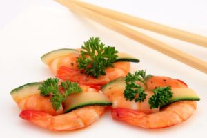 Large king prawns high in protein